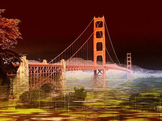 Brücke über dem Fluß