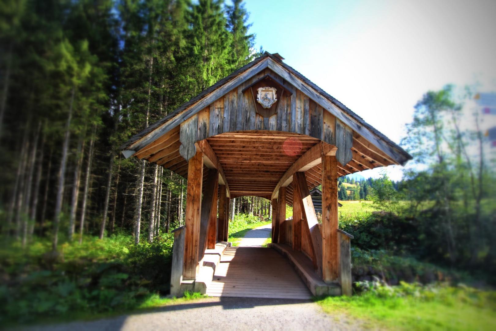 Brücke über dem Schwarzwasserbach
