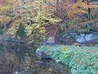 Brücke über den Bach im Herbstsommer 2012