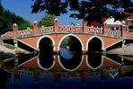 Brücke über einen Khlong in Ayutthaya