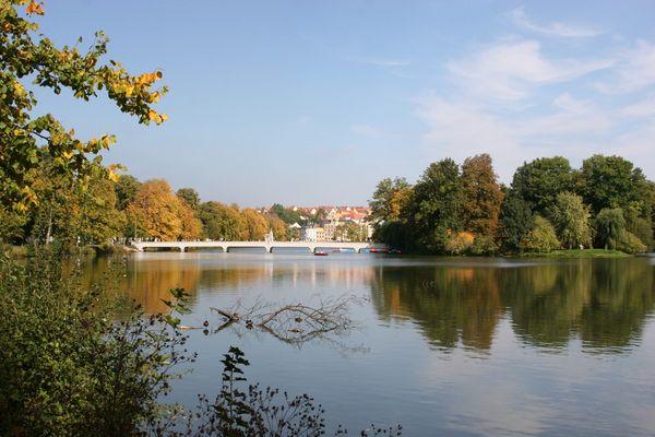 Brücke zum Inselzoo in Altenburg