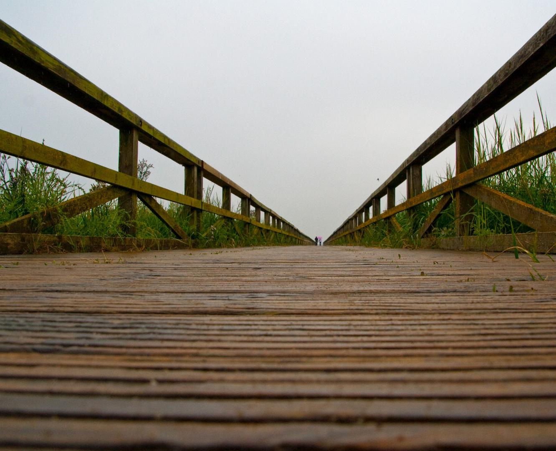 Brücke zum Watt bei Nordstrand