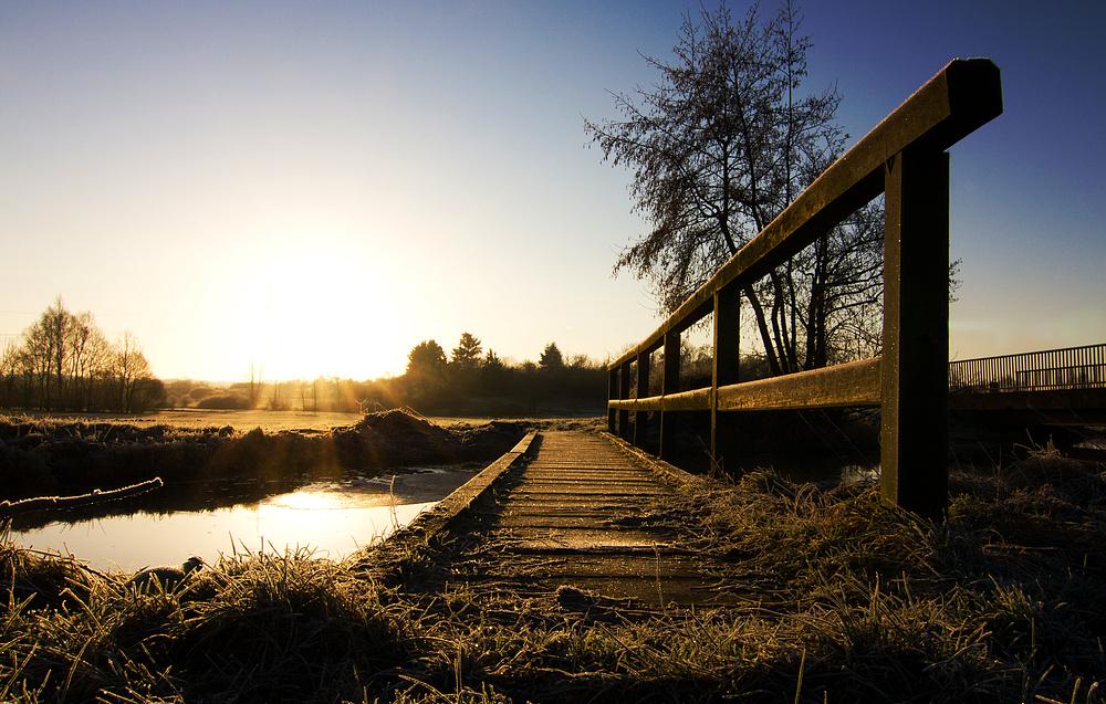 Brücke zur Morgensonne