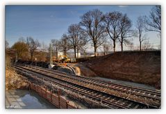 Brückenbaustelle Obermylau