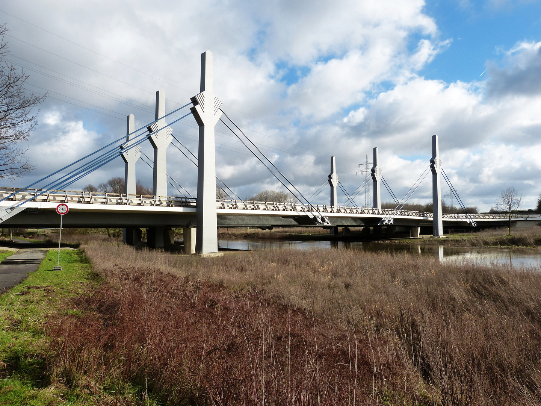 Brückenbauwerk der Werrebrücke Ost (A 30)