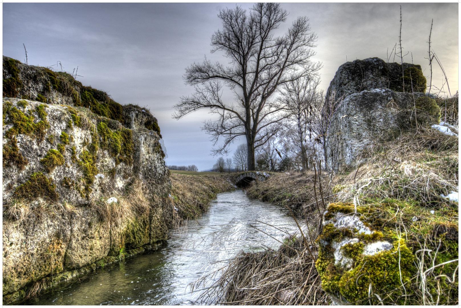 Brückenreste … irgendwo im Ries