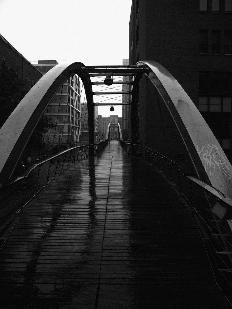 Brückenübergang zur Speicherstadt