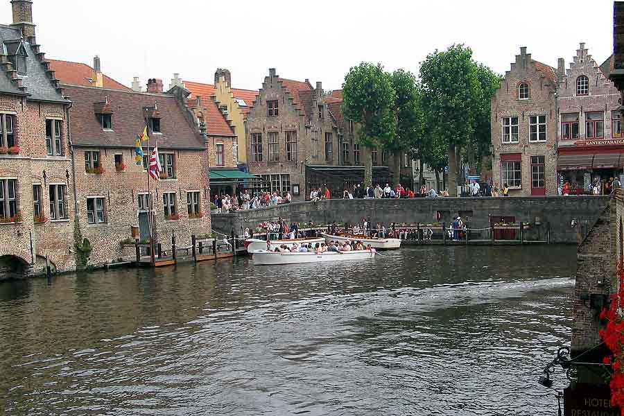 Brügge Boote auf den Kanälen