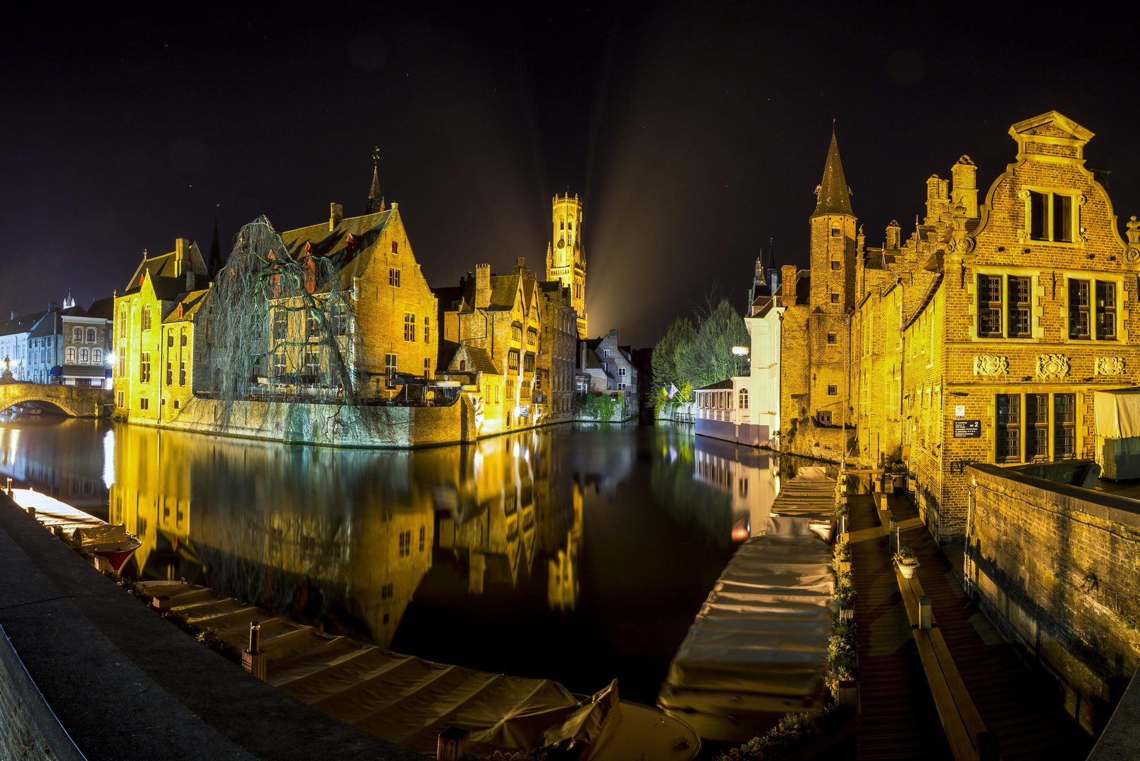 Bruges, night panorama