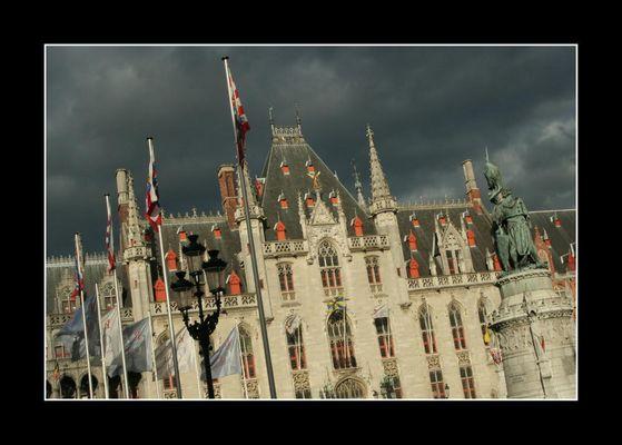 Bruges, soleil et orage