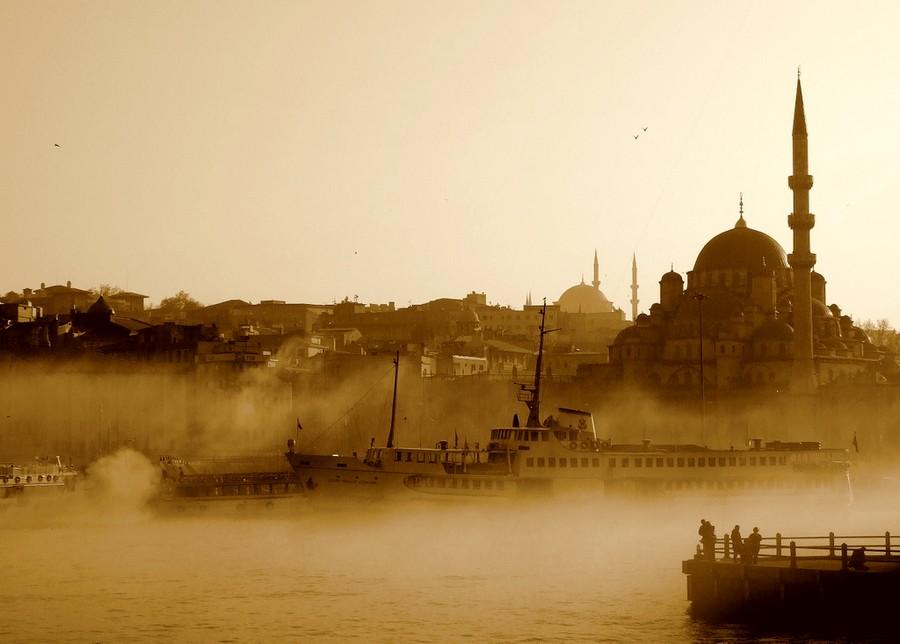brume à Istanbul