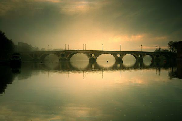 Brume matinale sur la Garonne