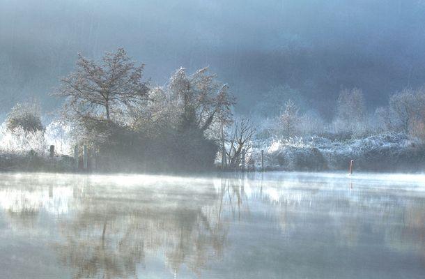 Brume matinale sur La Rance le 13-02-2008