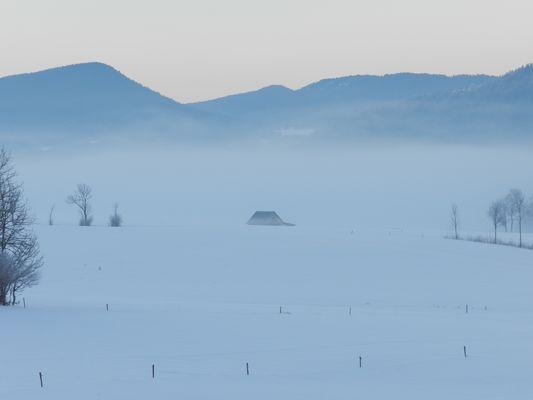 Brume matinale sur le Vercors