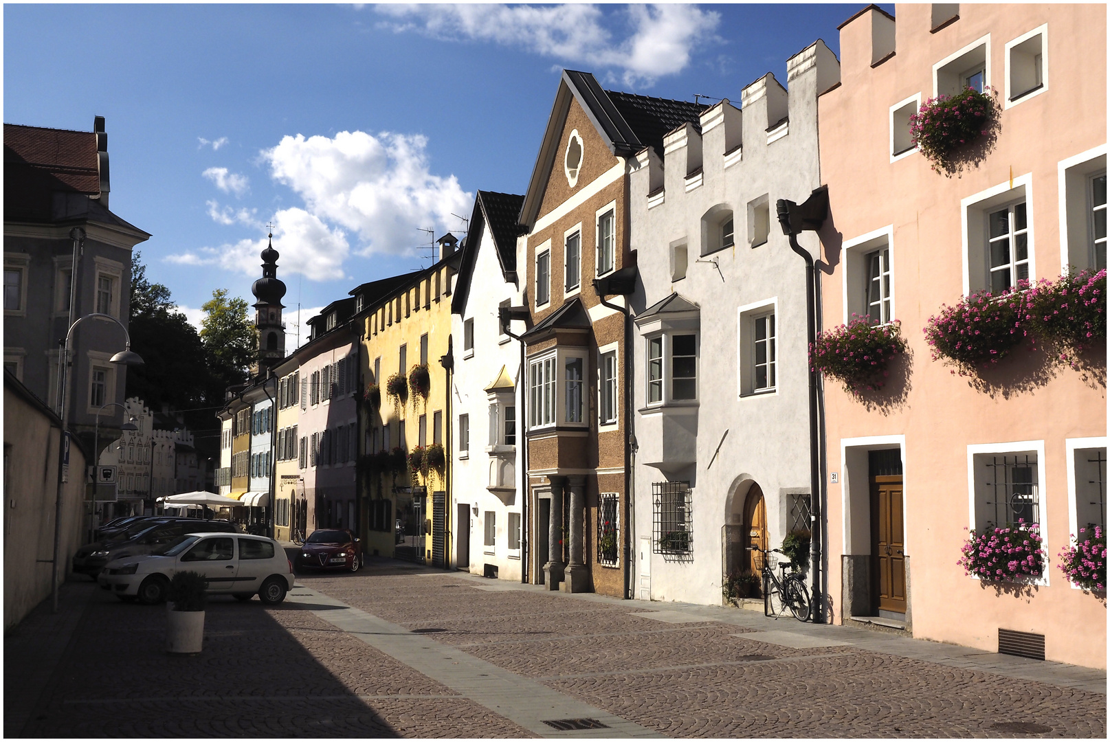 Bruneck alte Häuser