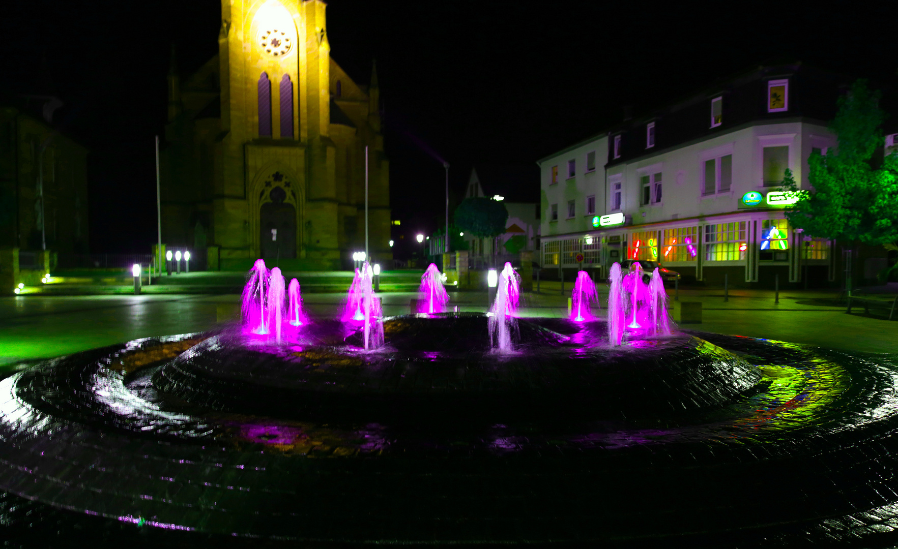 Brunnen am Ludwigsplatz in Bad Bergzabern