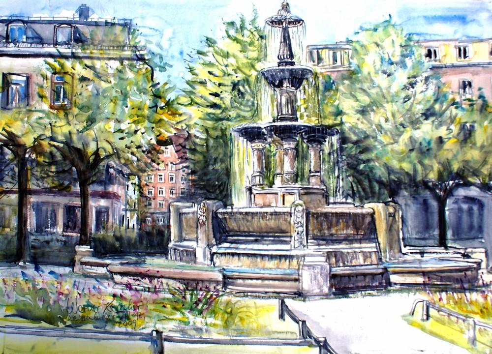 Brunnen am Weißenburger Platz - München
