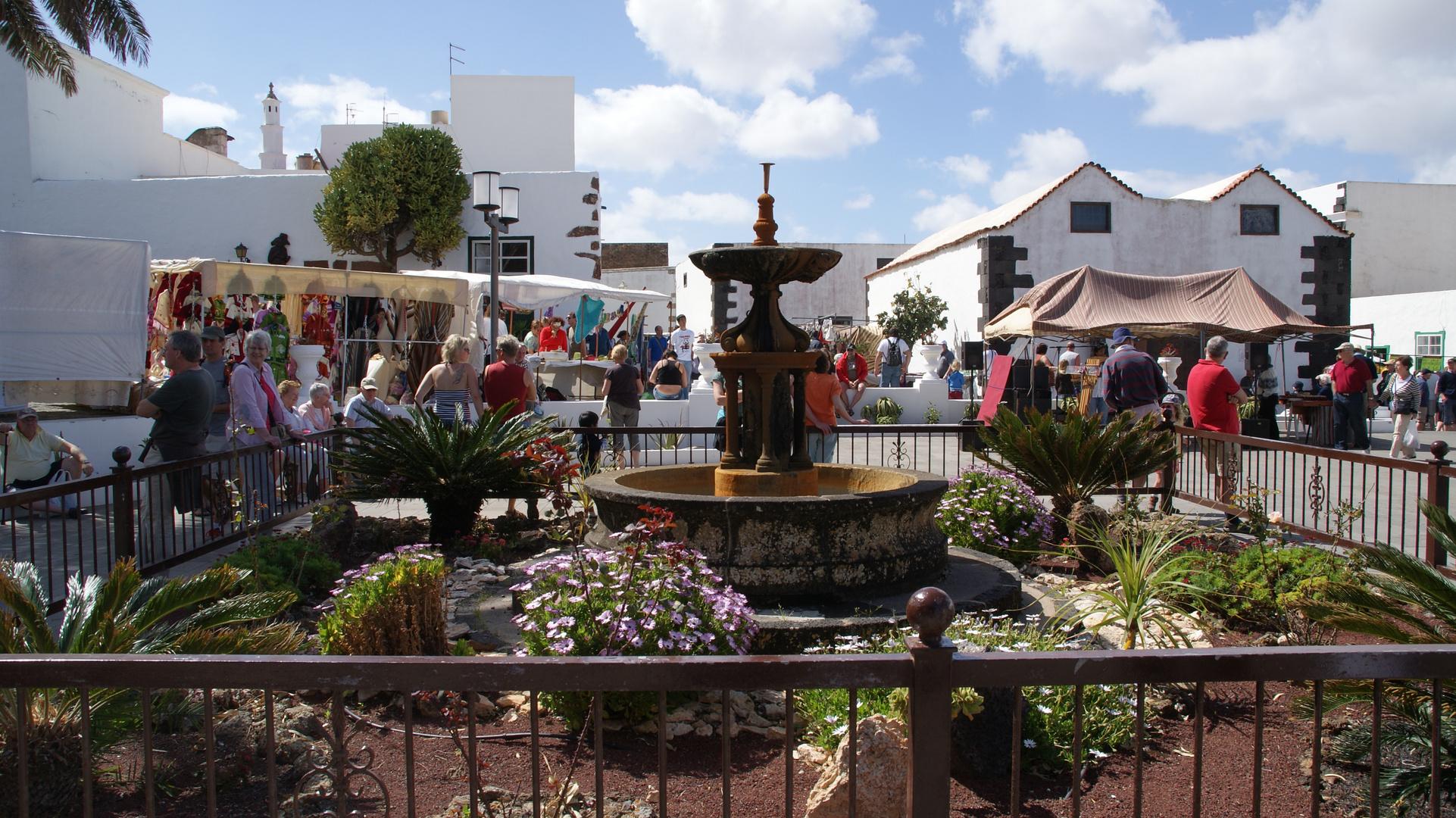 Brunnen auf dem MArktplatz-Lanzarote