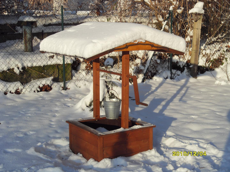 brunnen im winter