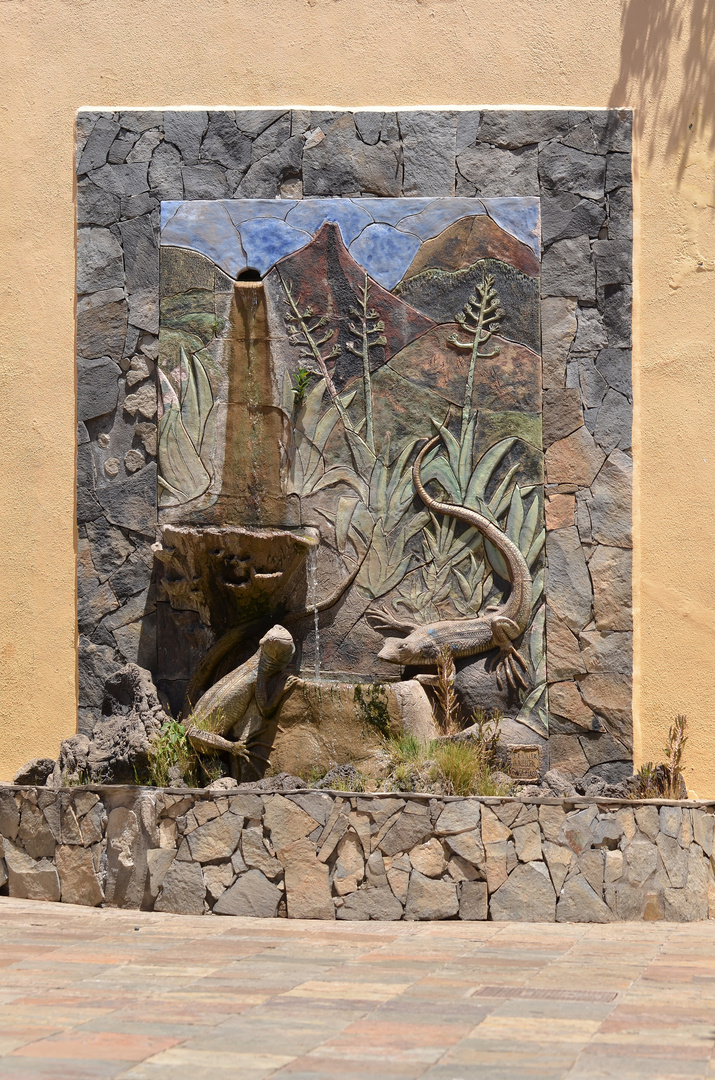 Brunnen in Tazacorte, La Palma, August 2013