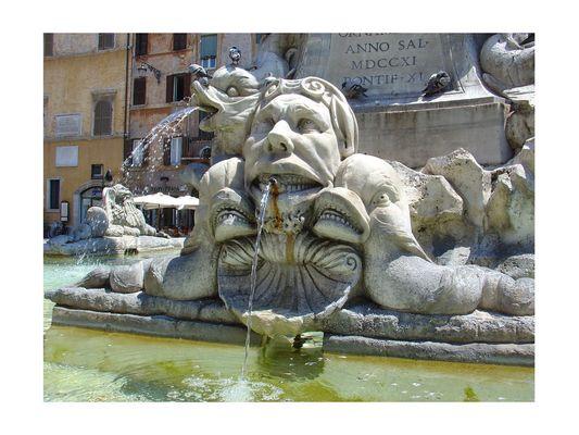 Brunnen - Pantheon, Rom