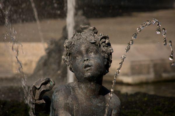 Brunnen vor dem Friedensengel