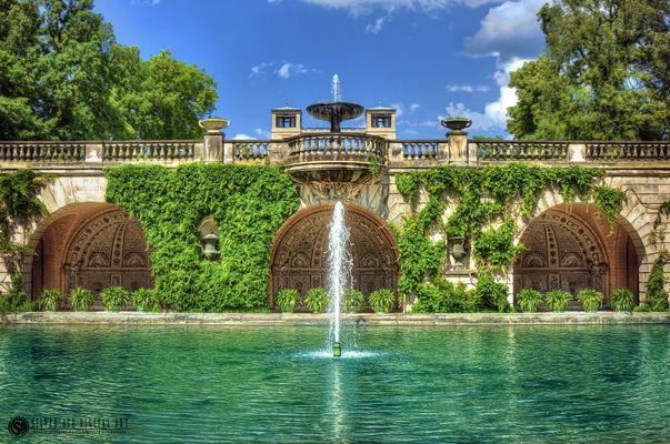 Brunnen vor der Orangerie HDR (Schloss Sanssouci)