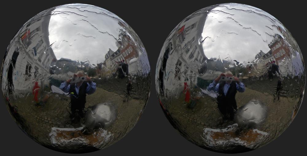 Brunnenspiegelkugel-Selbstportrait