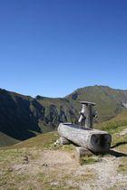 Brunntrog im Gebirge