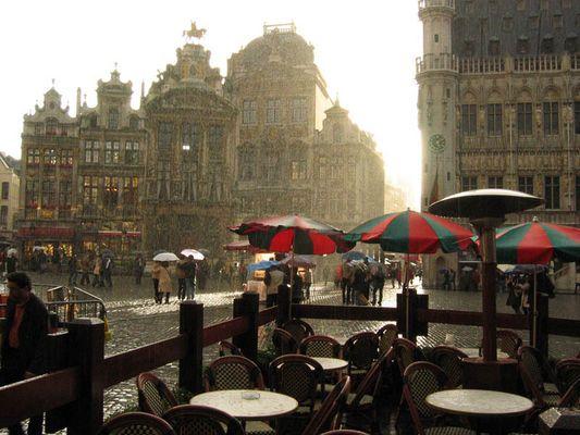 Bruxelles bei Regen