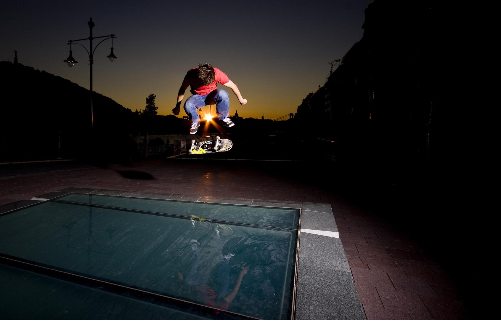 bs kickflip sunset