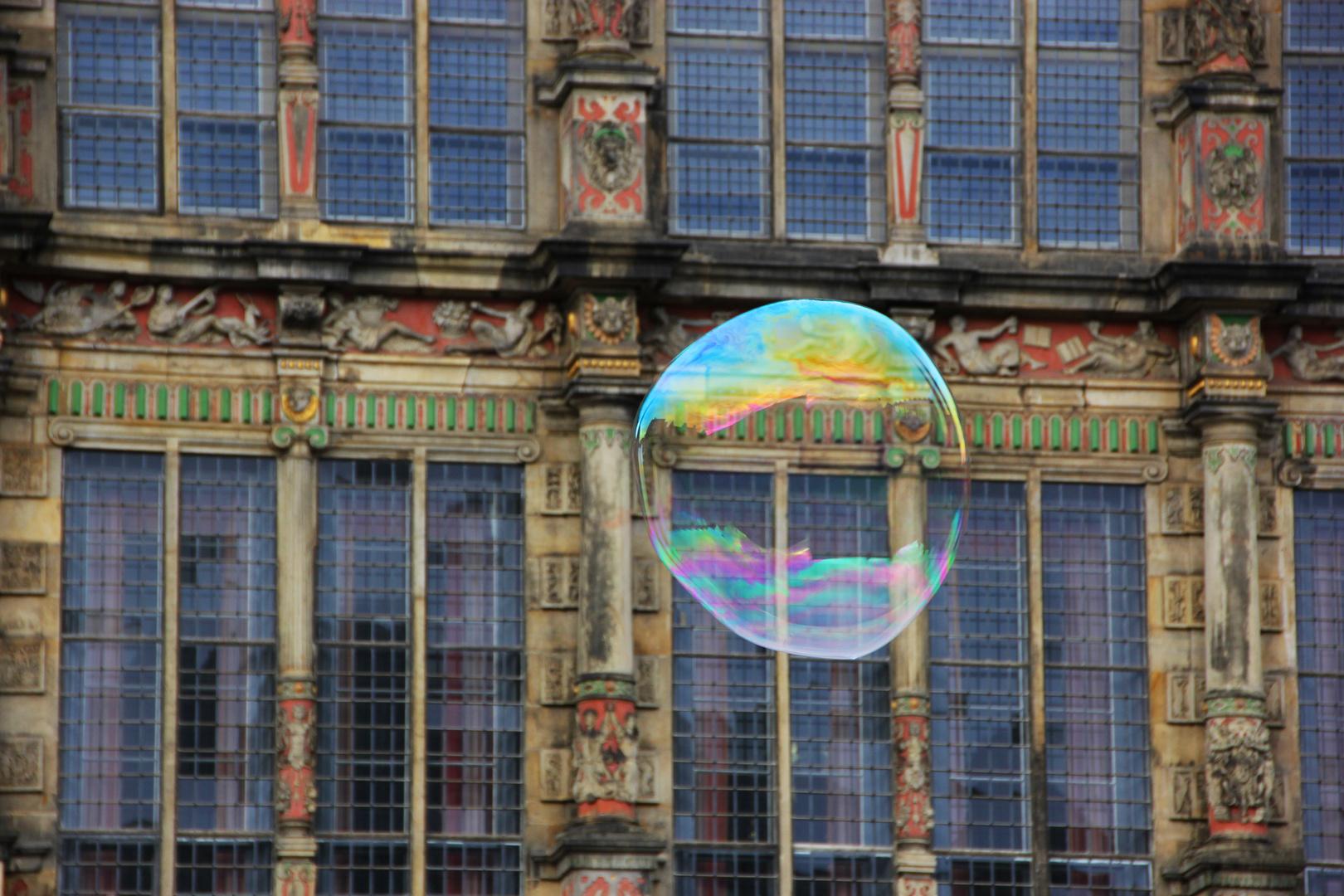 bubble life or glass facade