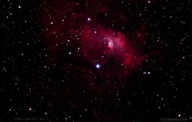 Bubble Nebula (NGC 7635) im Sternbild Kassiopeia