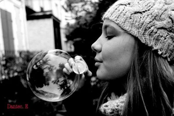 Bubble woman.