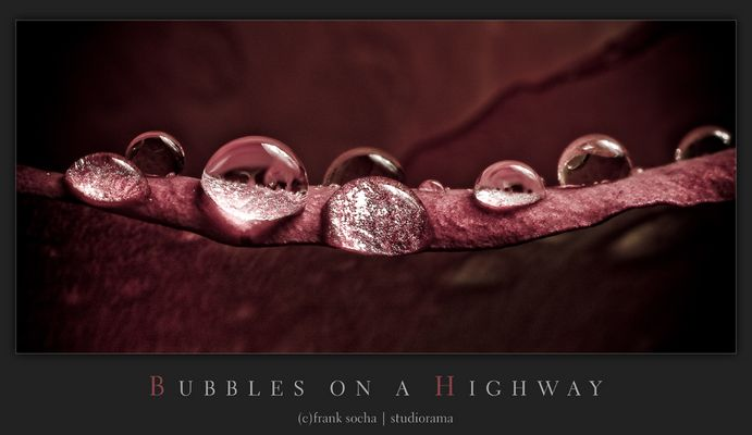 bubbles on a highway