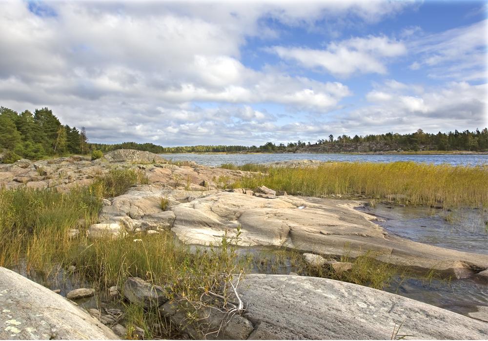 Bucht am Vänernsee in Schweden