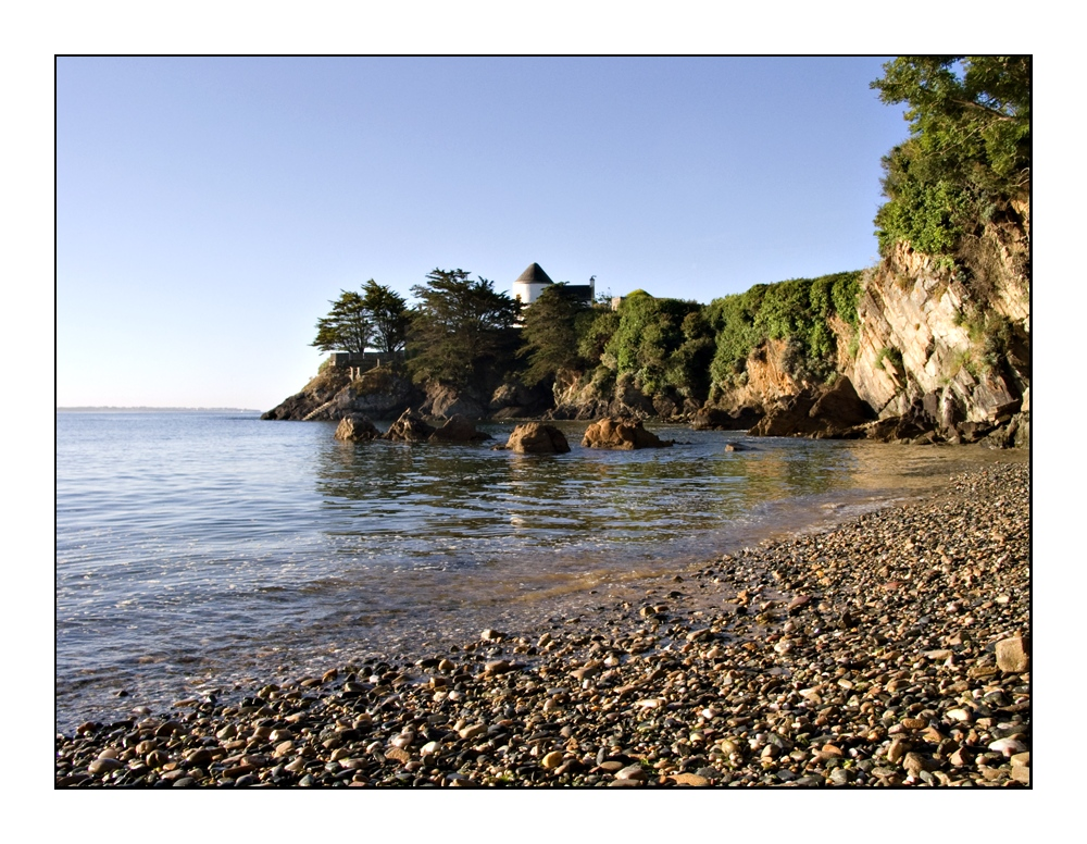 Bucht bei Le Pouldu am Morgen