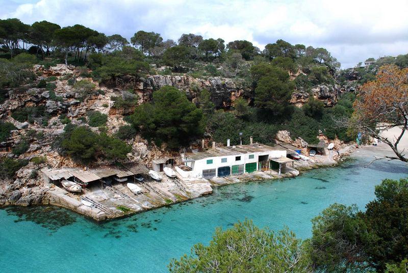 Bucht im Süden Mallorcas