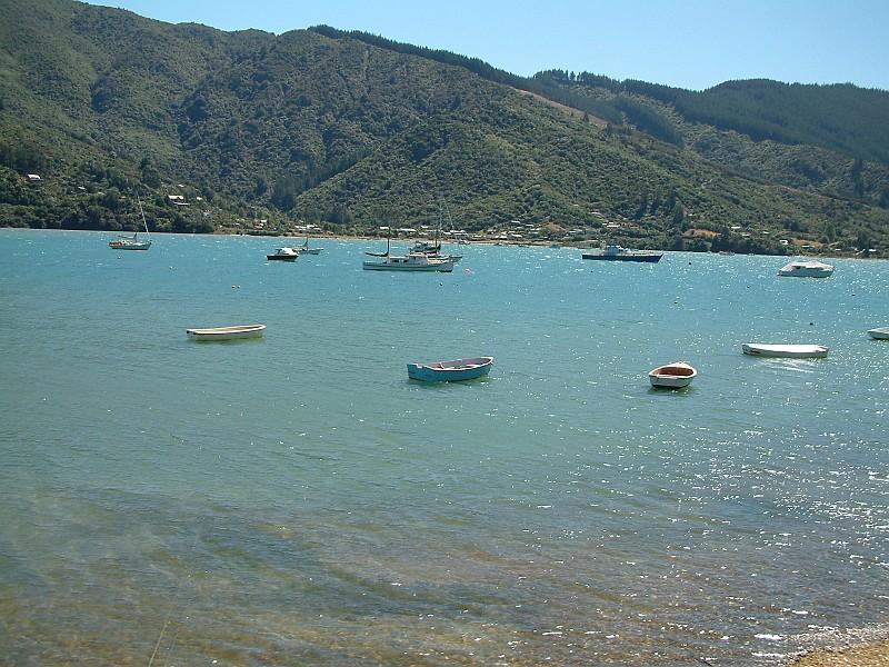 Bucht in den Marlborough-Sounds