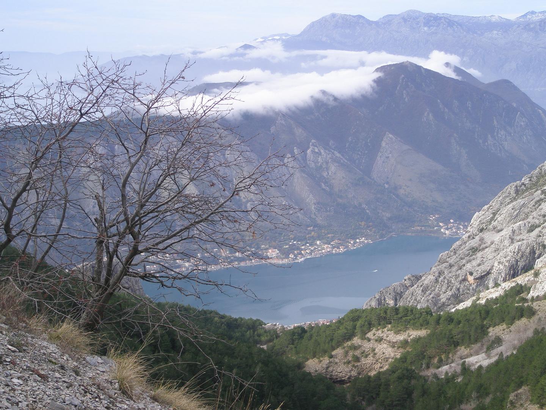 Bucht von Kotor Blick auf Mur
