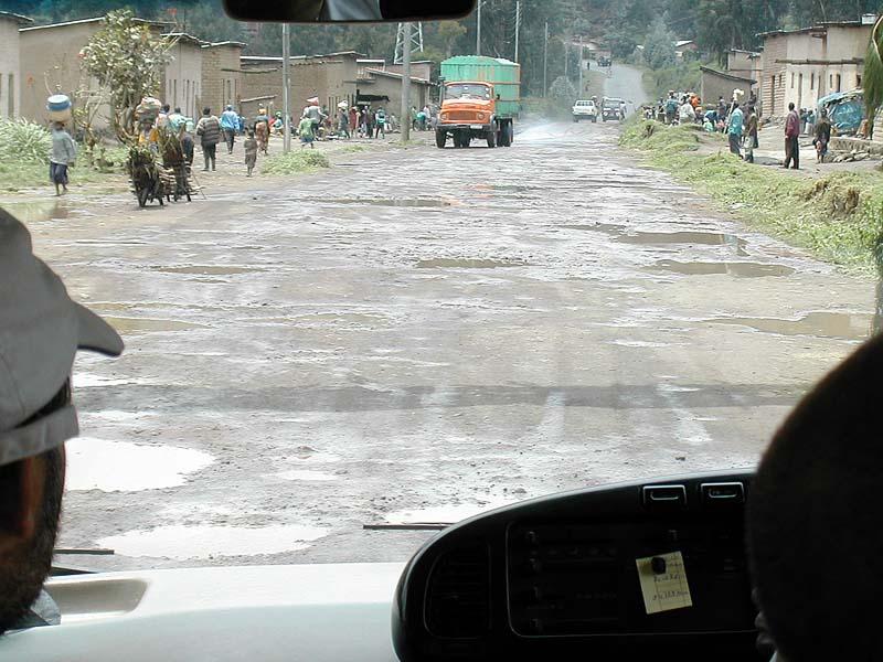 Buckelpiste in Ruanda