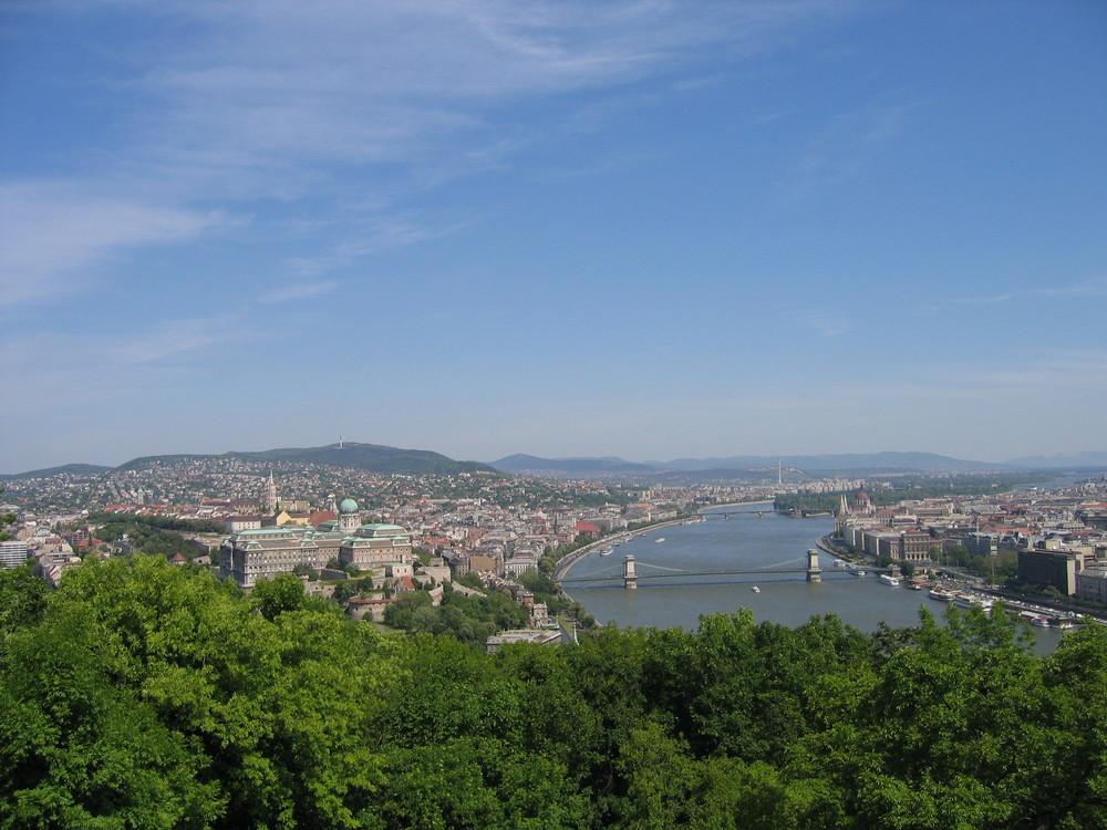 Budapest, der Einmalige Metropole, und der Hauptstadt Ungarn.