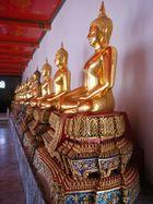 Buddha in line
