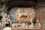 Buddha mit Menschen