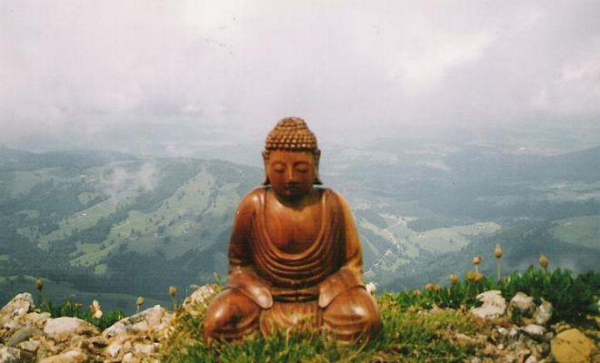 Buddha on The Rock (Hochgrat - 1833 m)