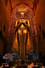 buddha statue, bagan, burma 2011