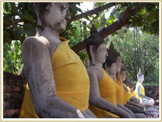 Buddhafiguren in Ayutthaya