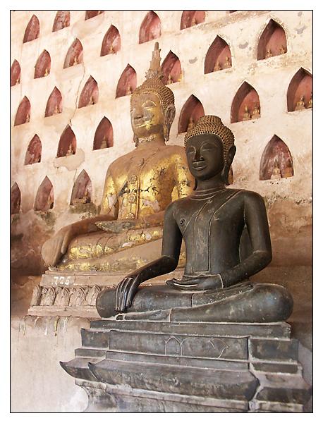 Buddhas im Wat Sisaket - Vientiane, Laos