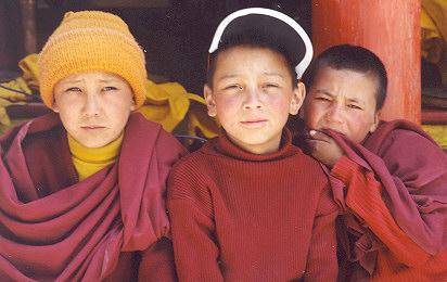 BUDDHIST CHILDREN IN LEH