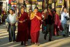 Buddhist monks in Bodnath